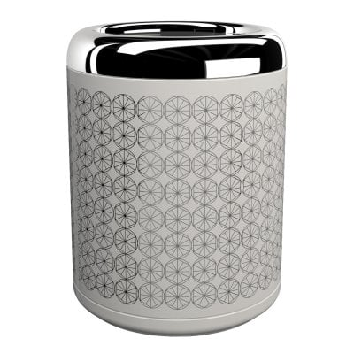 Waste bin Equilibrium Circles White Chrome