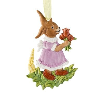 Easter ornament »Picking flowers« Osteranhänger Handbemalt