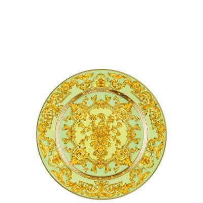 Plate flat 22 cm / 25 years Versace Green Floralia