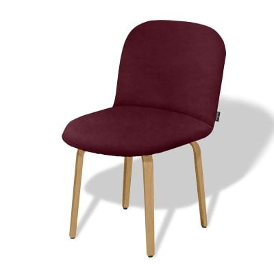 Chaise sans accoudoirs BOLBO Wine Red Tissu