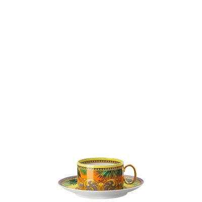 Paire tasse 4 basse Versace Jungle Animal.Yellow
