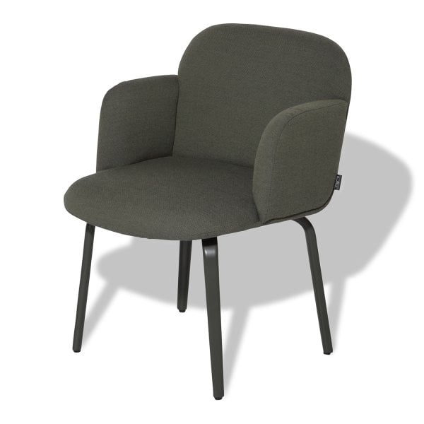Chair with armrests BOLBO Moss Green Fabric