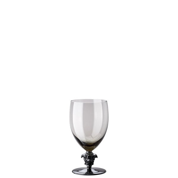 Red wine glass Versace Medusa Lumiere Haze