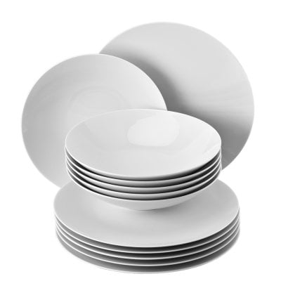 Dinner set 12 pcs. TAC Gropius White