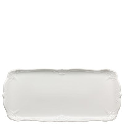 Sandwich tray rectangular Baronesse White