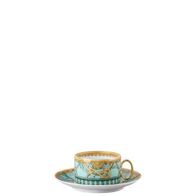 Cup & saucer 4 low Versace Scala Palazzo Verde