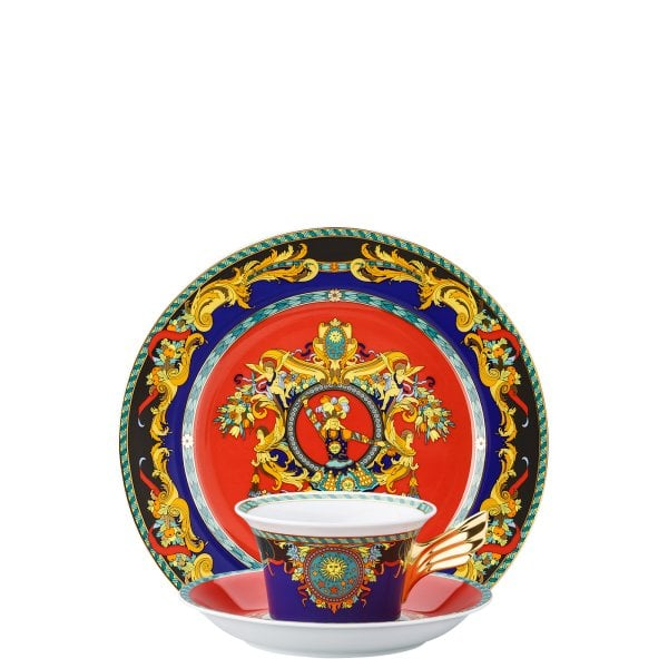 Set plate + cup & saucer / 25 years Versace Le Roi Soleil