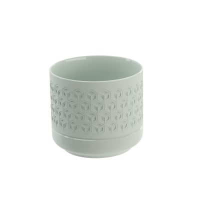 Tooth mug Equilibrium Hexagon Celadon mat