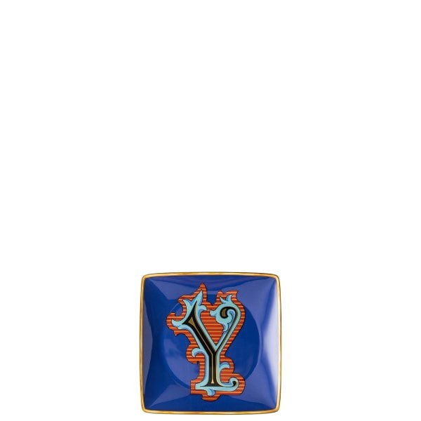 Bowl 12 cm square flat Versace Holiday Alphabet Y