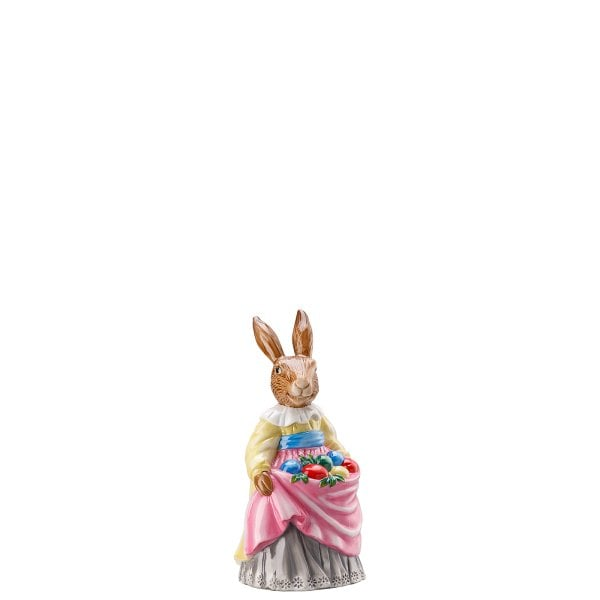 Lady hare with eggs Hasenfiguren decorated
