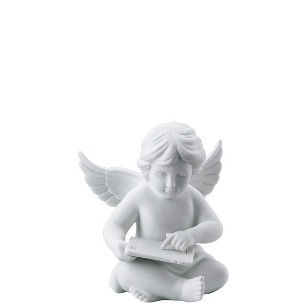 Angel with tablet Angel middle White-mat