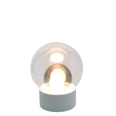 Boule Small white, Glass transparent/smoky grey