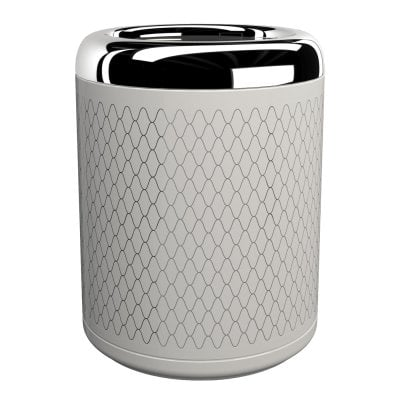 Waste bin Equilibrium Netting White Chrome