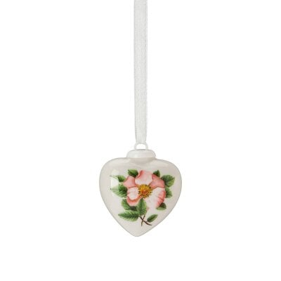 Porcelain mini-heart Spring greetings Heckenrose - rosé