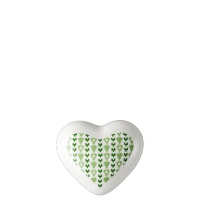 Box large Lots of hearts Green