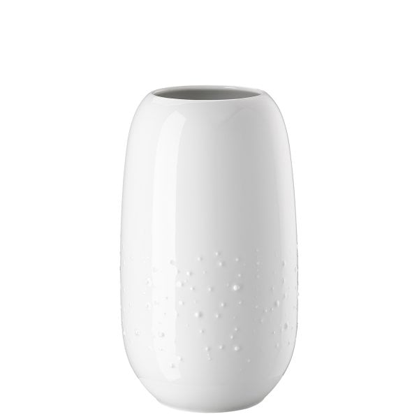 Vase 25 cm Droplets White
