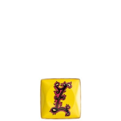 Bowl 12 cm square flat Versace Holiday Alphabet Z