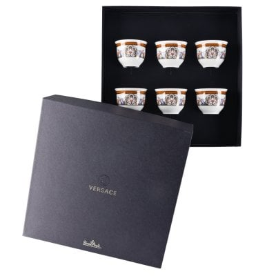 Set of 6 mugs small w/o handle Versace Étoiles de la Mer