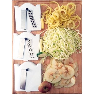 Vegetable Cutter S/Steel Utensili Cucina ABS/Endlosringe