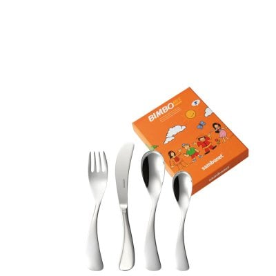Set 4 pcs baby flatware Bimbo Mix Stainless steel