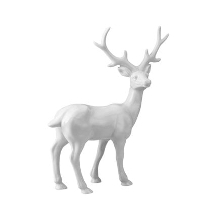 Figurine Stag large Fantasy Forest White