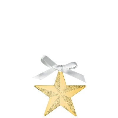 Pendant Star 8 cm Silver Collection Christmas Gold