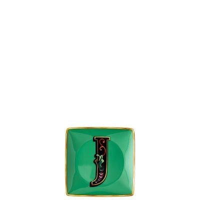 Coppetta quadra piana 12 cm Versace Holiday Alphabet J