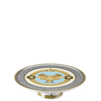 Platter on foot small Versace Prestige Gala Bleu