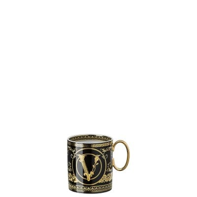 Mug with handle Versace Virtus Gala Black