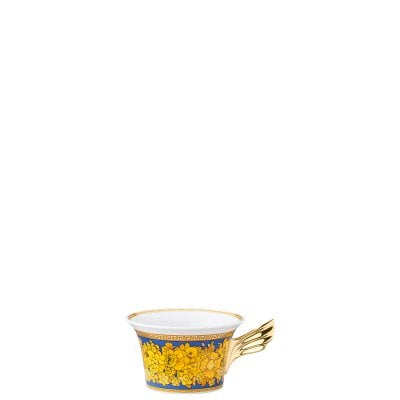Tea cup & saucer / 25 years Versace Floralia Blue