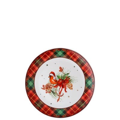 Assiette plate 20 cm Cozy Winter Kardinal