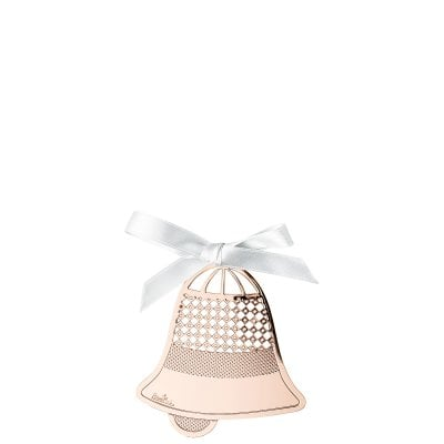 Pendantif cloche 8 cm Silver Collection Christmas Rose Gold