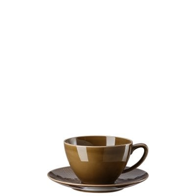 Café au lait cup Mesh Colours Walnut
