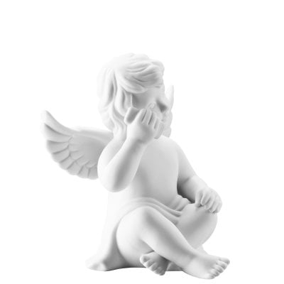Angel with smartphone 10 cm Angel middle White-mat