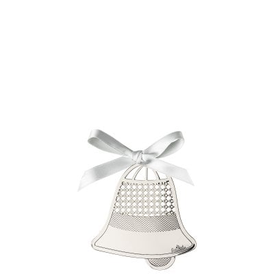 Pendantif cloche 8 cm Silver Collection Christmas Silver