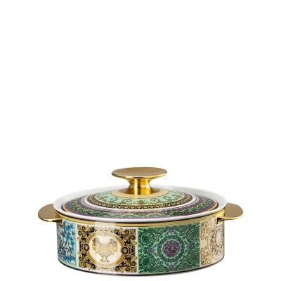 Covered vegetable bowl Versace Barocco Mosaic