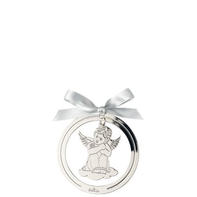 Pendantif ange assis 8 cm Silver Collection Angels Silver
