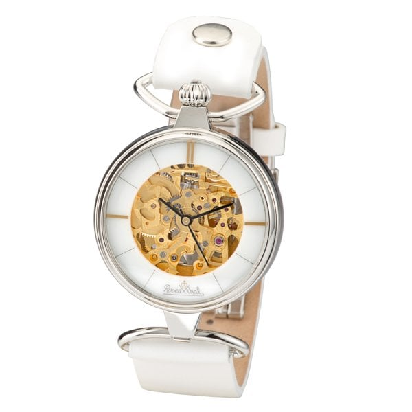 Wrist watch Lady Skeleton silver-skeleton-white