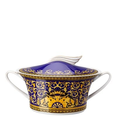 Covered vegetable bowl Ikarus Medusa blue