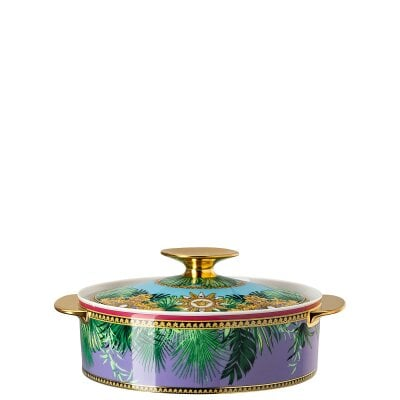 Covered vegetable bowl Versace Jungle Animalier