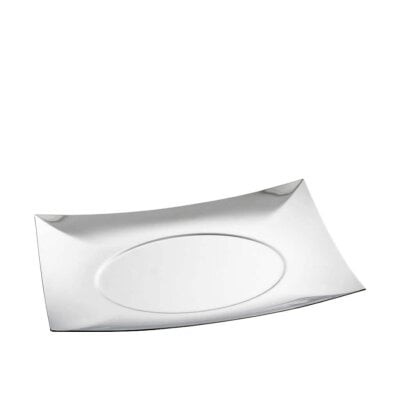 Show plate 30 x 30 cm Linea Q Stainless steel 18/10