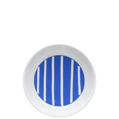 Plate deep 21 cm ONO friends Blue White Lines