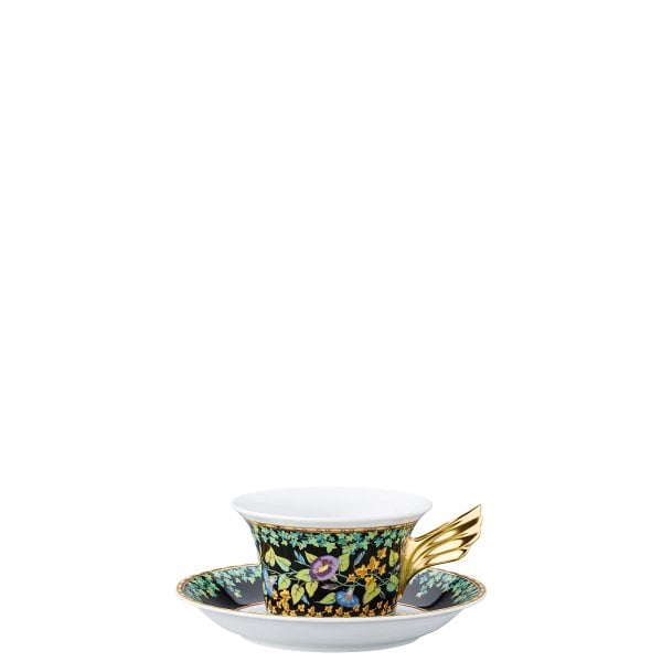 Set plate + cup & saucer / 25 years Versace Gold Ivy