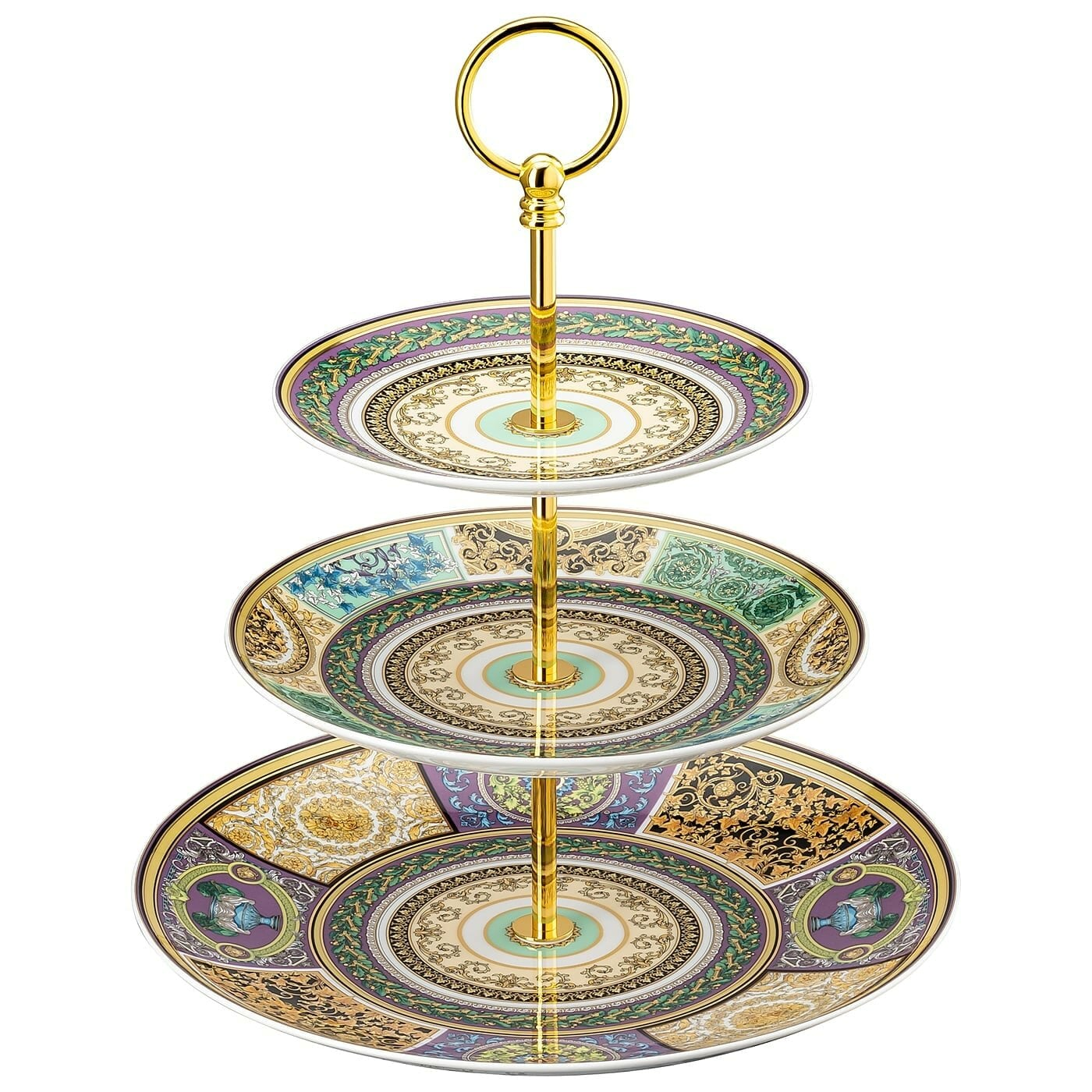 Versace Barocco Mosaic Etagere 20 tiers   Rosenthal Porcelain ...
