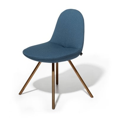 Chair FIN Pigeon Blue Fabric