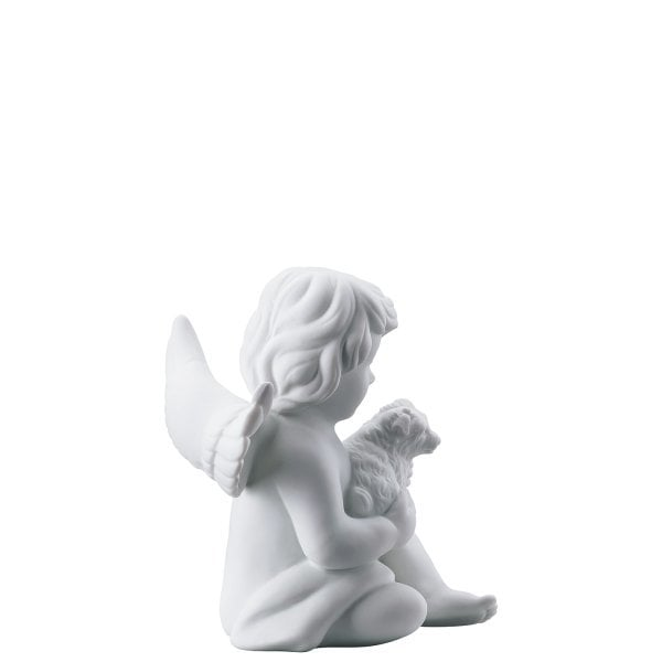 Angel with dog Angel middle White-mat