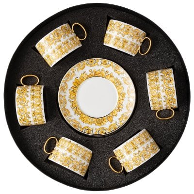 Set with 6 tea c/s Versace Medusa Rhapsody