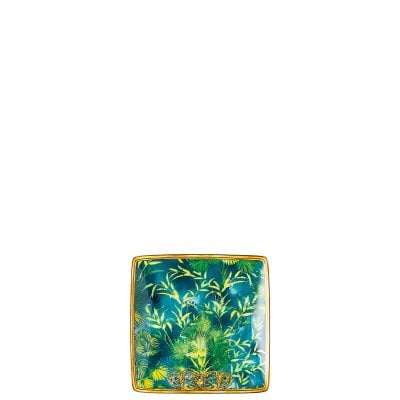 Bowl 12 cm square flat Versace Jungle