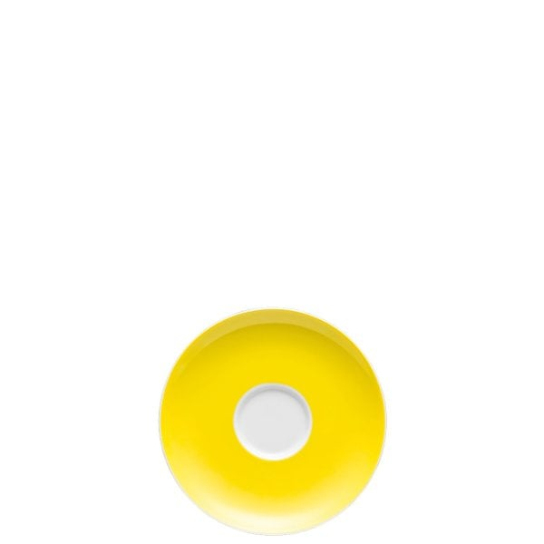 Saucer 4 tall Sunny Day Neon Yellow