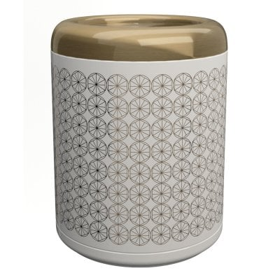 Waste bin Equilibrium Circles White Bronze